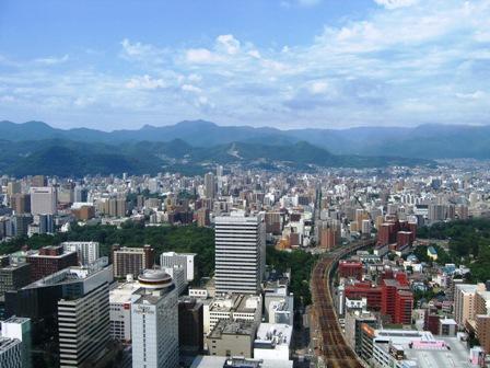 JRタワーからの風景(ジャンプ台のほう)