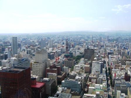 JRタワーからの風景(テレビ父さんのほう)