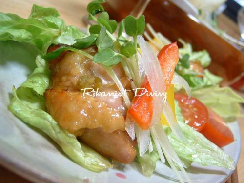 柚子胡椒チキングリルサラダ仕立て