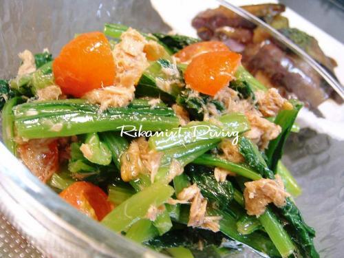 DSCF5・2小松菜&トマト