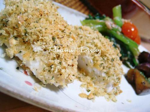 DSCF5・2白身魚のアーモンドパン粉焼き