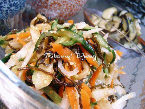 DSCF6・3野菜の塩昆布和え