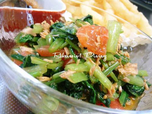 DSCF6・8小松菜とトマトのツナドレッシング