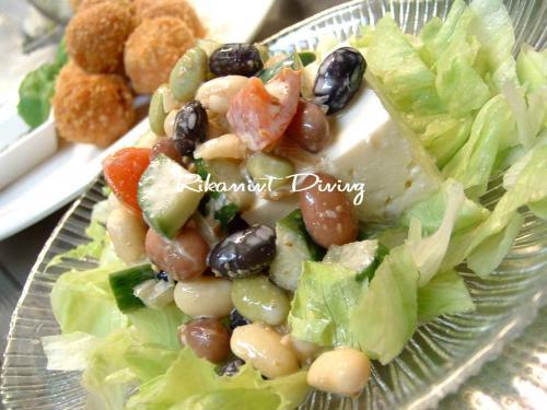DSCF6・23ベジ&ビーンズの健康サラダ