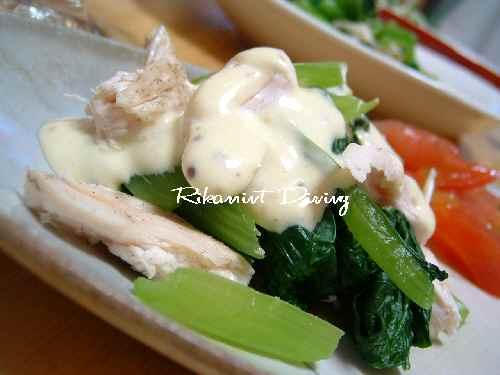 DSCF7・30小松菜の辛子マヨアップ