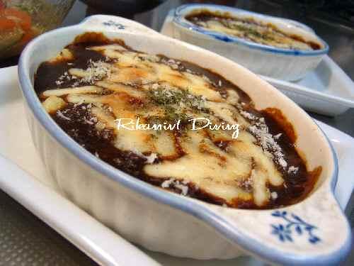 DSCF8・1マッシュポテトのデミチーズ焼き