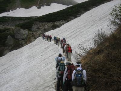 雪中登山?