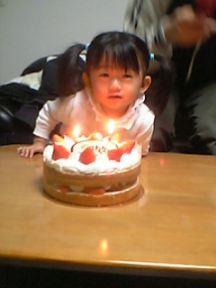ケーキと一緒☆