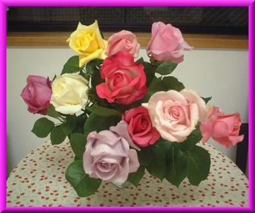 ダンス教室の薔薇