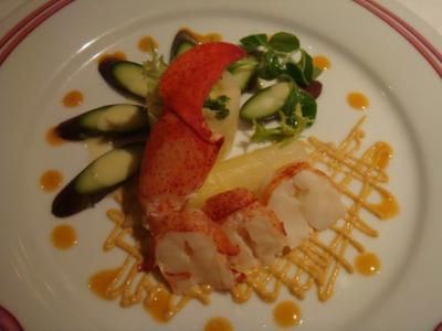 オマール海老のサラダ@MAXIM'S DE PARIS