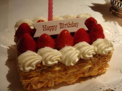 誕生日ケーキ@MAXIM'S DE PARIS