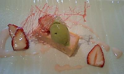 桜のチーズケーキ@La Luna Rossa