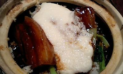 豚角煮山芋すり流し土鍋ご飯1@天一ポウ