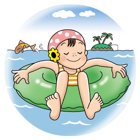 海水浴女子