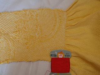 黄色い帯揚げ