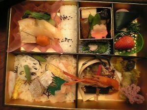 080327今半・季節のお弁当「春の彩り」
