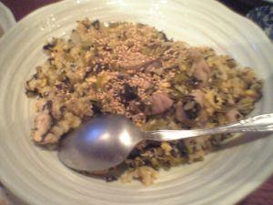 080515弥生・高菜と卵のチャーハン