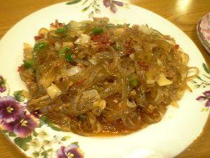 080618珍珍・春雨と豚挽き肉の炒め物