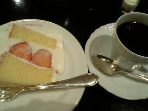 080629コクテル堂・苺ショートケーキ、ハワイコナ