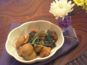 080803里芋と鶏の煮物・南瓜あんかけ