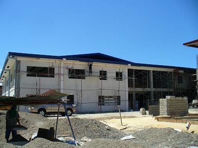 Philinter新校舎建設状況(2008年4月22日)
