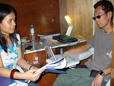 セブで英語を学ぶ全盲の学生さん
