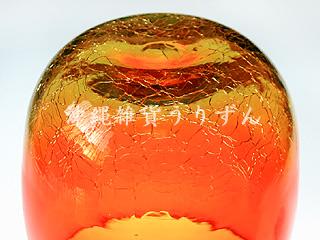 琉球ガラスの技法アイスクラック