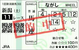 2008新潟大賞典馬券
