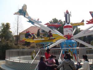 遊園地飛行機