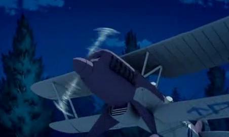 アリソンとリリア1話 飛び立つ飛行機