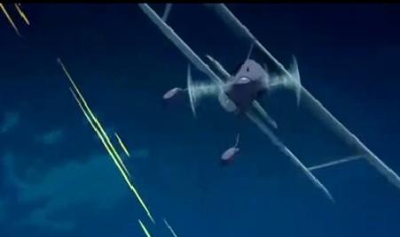 アリソンとリリア2話 敵機から攻撃を受ける