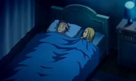 アリソンとリリア2話 アリソンヴィル一緒に就寝