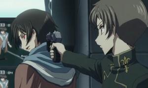 コードギアスR24話 ロロ相変わらずルルーシュに銃を突きつける