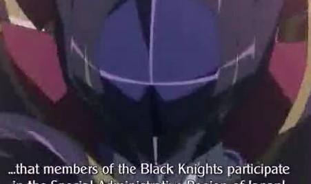 コードギアスR27話 ルルーシュ 黒の騎士団は全員特区日本に参加せよ!