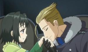 アリソンとリリア7話 ヴェネディクトフィオナの手にキス