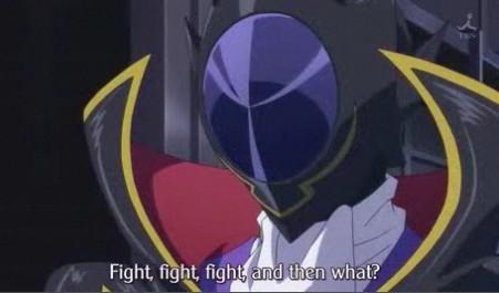 ルルーシュ 戦って、戦って、それでどうする?