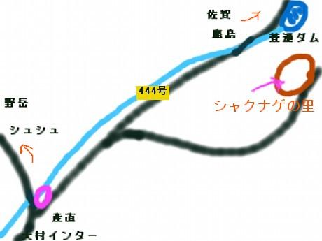 シャクナゲ地図