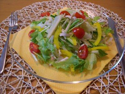 チキンと野菜のサラダ♪