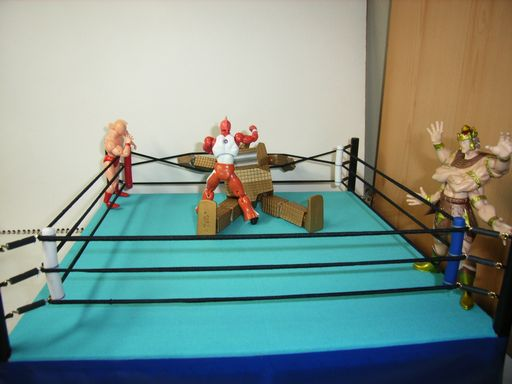 プロレスのリングの模型 1