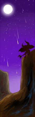 砂漠の夜のディアブログver