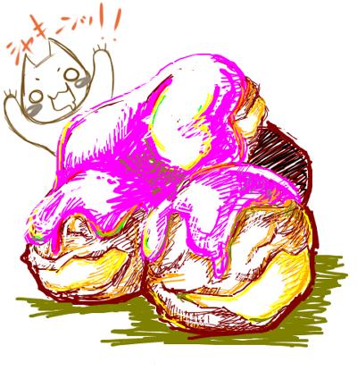 苺チョコかけシュークリームブログver