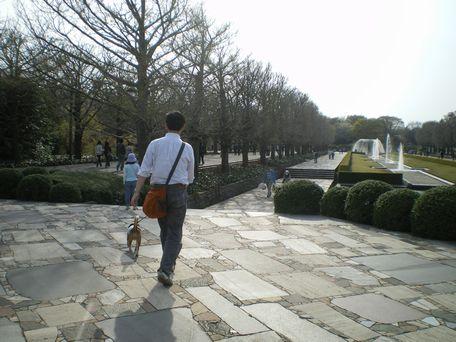 お散歩してから、帰ろ~。