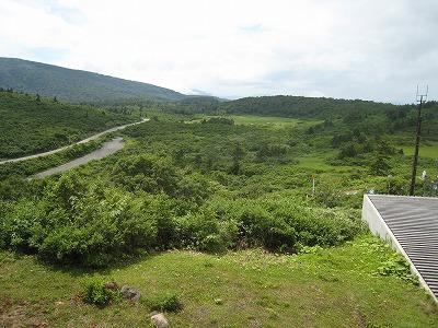 栗駒山荘の露天風呂からの景色