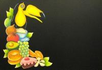 南国なメッセージボード2(チョークアート)