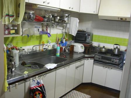 高田邸キッチン施工前