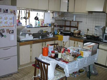 池上邸キッチン施工前1