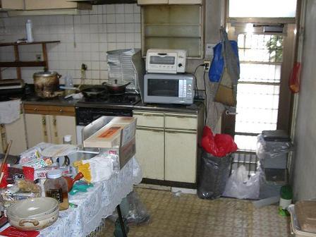 池上邸キッチン施工前2