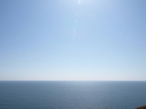 空も海も水色。。。