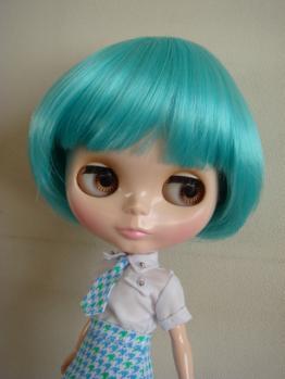 blythe blue wig