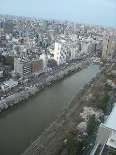 法政大学ボアソナードタワー25階から臨む飯田橋方面